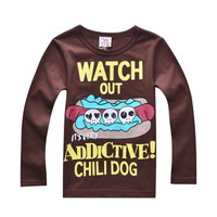 2014 new fashion t-shirts for boys t-shirt children t shirts skull print Halloween clothing