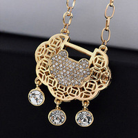 Longevity lock short necklace female short design chain fashion accessories pendant