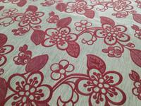 Linen fabric printing flocking sofa cloth curtain DIY handmade by