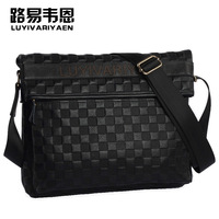 Free Shipping Genuine leather male shoulder bag vintage messenger bag casual business men's bag