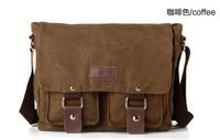 Casual Handbag Punk Designer Canvas + Leather Genuine Vintage Fashion Shoulder Bag School bag Top Free Shiping