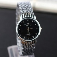 New Fashion Stainless Steel Strap Luxury  Wrist Watch Women Men Brand Gift