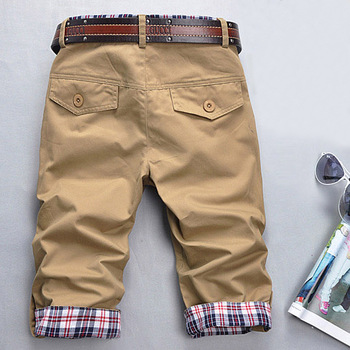 Male capris linen male casual capris men's summer breeched trousers