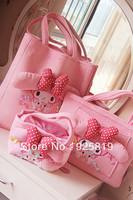2013 new Pink melody cartoon shopping bag notebook bags bento box bag