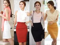 Womens Fitted Business Bodycon Short Career High Waist Pencil Skirt XS S M L XL