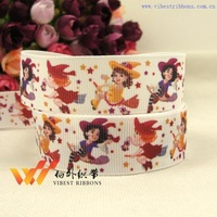 Free shipping!! Wholesale 5 2013 new arrival cartoon ribbon halloween ribbon printing belt rib knitting belt  Monster high