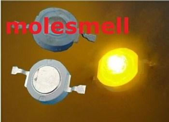 Free shipping 1000pcs 3W 3watt Yellow High Power 3W yellow LED Lamp Light ultra Bright 3w yellow led beads
