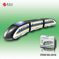 2013 new novelty solar solar assembly EMU train assembled educational toys DIY