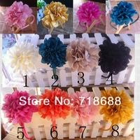 "3"" Eyelet Flowers Eyelet Chiffon Flowers 24PCS/LOT wholesale Flowers DIY Photography props"