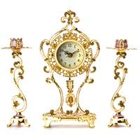 New 2014 Fashion Retro clock Antique wrought iron clock Vintage home decor Candlestick decoration  Desk clocks Free shipping