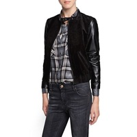 Mango2013 patchwork leather bomber jacket 13065568