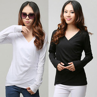 Women's top long-sleeve T-shirt autumn solid color shirt slim women's basic t-shirt