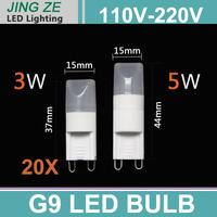 The Newest g9 LED mini  3W / 5W Lamp Beads  AC 110v  220V G9 LED  100Lm G9 MINI LED Lamp Beads FREE SHIPPING
