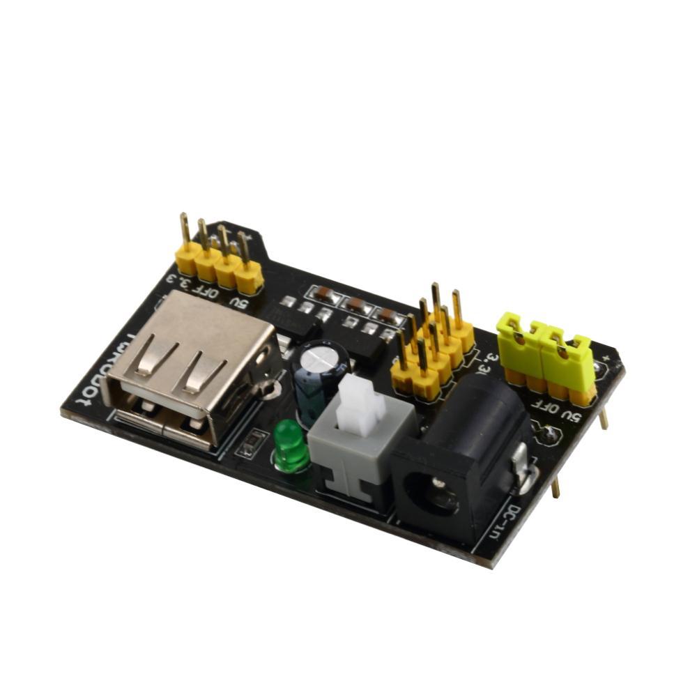 1 pcs mb102 breadboard power supply module 3.3 v / 5v para sem solda pão b