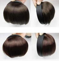 2014 hot sale hair extension fringe sex products bands fake fringe real hair qi bangs extension invisible seamless repair