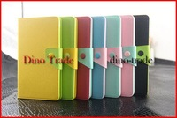 Wholesale Luxury Hit Color Button Flip Stand Leather Case for Google Nexus 7 II 2nd New 2 generation 50pcs/lot