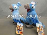 Free Shipping High Quality 5pcs RIO Plush Parrot Bird Jewel Blu Plush Toys Doll Stuffed Animals 25cm Hot Sale