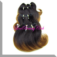 best saling ombre hair extension, the best ombre hair products,body wave hair weft,20set/lot,50g/set,6inch,1B#30 color