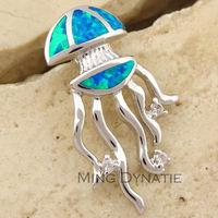 Pacific Blue Fire Opal Silver Fashion Jewelry Women & Men Pendant OP591L  Wholesale & Retail