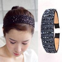 Broadside hair bands fashion handmade crystal beaded headband hair accessory hair pin