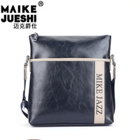 Hot-selling check shoulder bag casual bag cell phone pocket street patchwork bag bags man bag leather