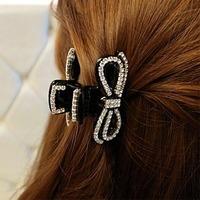 Gripper rhinestone diamant crystal  gripper bow hair caught accessories hair accessory hair accessory cutout