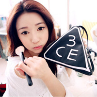 Sty nda women's 3ce letter fashion personality three-dimensional PU portable triangle cosmetic bag