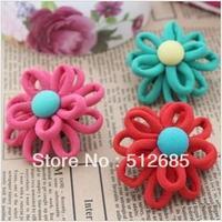 {Min.Order $15} 10pcs/Lot  5.3cm Flower Semi-Part/ Accessories For Hair Accessories/Garment/Caps/Jewelry/Bags/Shoes DIY