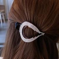 accessory hair accessory acrylic rhinestone square hair caught hairpin gripper