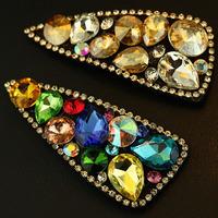 Crystal colorful rhinestone gem big bb clip hairpin hair accessory hair accessory