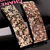 Drop rhinestone rectangle bb clip hairpin hair pin diamante crystal clip bangs hair accessory accessories