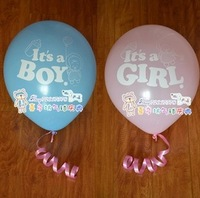 New Arrival 100 pc/lot 30cm Balloons It's A Boy It's A Girl Party Balloon Birthday Balloons Drop Shipping