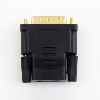 1Pcs DVI Male to HDMI Female adapter Gold-Plated NEW M-F Converter For HDTV LCD New Arrival