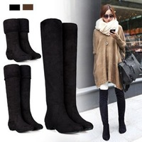 2013 new fashion warm knee high flat ankle women boots for women, snow boots and woman winter shoes #Y10578Q