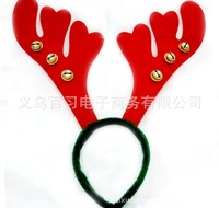 3pcs/lot 2014 New Year Christmas Tree decoration items Christmas antlers head hair bands With bells Freeshipping