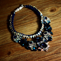Luxury Full Rhinestone Baroque Vintage Necklace Dinner Party Decoration