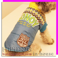 2 british style wadded jacket thermal pet clothes thickening clothes teddy dogs vip autumn and winter