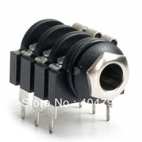 """10pcs,6pin 1/4"""" 6.35mm Stereo PANEL PCB ENCLOSURE PEDAL CASE JACK Socket,2340"""
