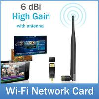 150Mbps High Gain Wireless N USB Wi-Fi Adapter Mini Soft AP WiFi IEEE 802.11n LAN Computer Network Card With External Antenna