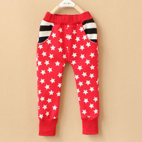 NEW!!! Free shipping 5pcs/lot NWT kids autumn winter long warm pants with printing stars, two colors for choise