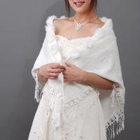 New Arrival Bridal Wedding Wrap, Faux Fur accessories 2 Colors