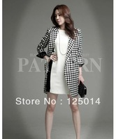2013 Women's new winter fashion wild plaid woolen jacket