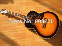 Free Hardcase! SJ200 acoustic guitar sunburst  popular and hot sell DA001