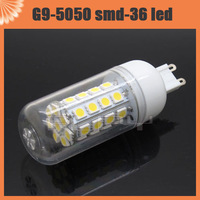 10pcs E14 E27 G9 6W 36 LED 5050 SMD Corn Bulb Cool White / Warm White 220V spot light bulbs With Cover Free Shipping
