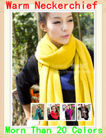 Free shipping!! 2013 Soft Warm cotton winter long Scarf neckerchief ! Many colors Shawl Wrap  Scarf women Scarves neckerchief!!