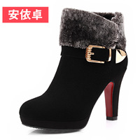 2013 winter boots high water genuine leather boots cowhide round toe boots fashion boots