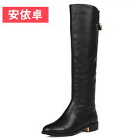 New arrival 2013 high-leg women's boots female low-heeled shoes genuine leather two-in-one boots tall boots