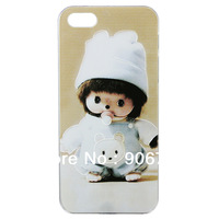 Free shipping Monchhichi Design Cartoon For Iphone 5 5S Case