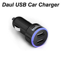 Black/ White Mini Car Charger Adapter Bullet Dual USB 2 Ports For iPhone 4 4S iPod Touch Free Shipping