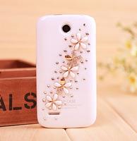 New Luxury 3D floret Bling Crystal Diamond flowers Case Cover For Lenovo a390